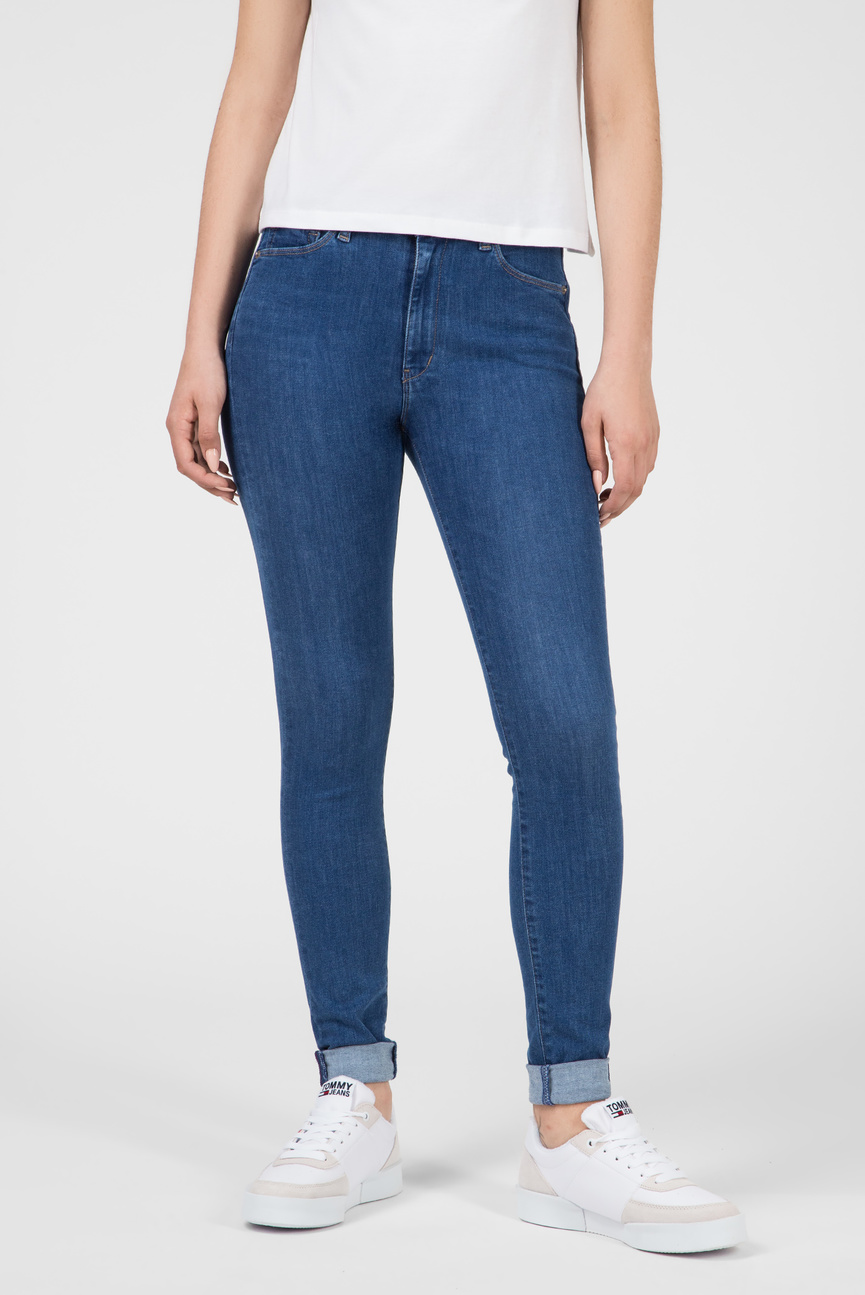 Женские синие джинсы HIGH RISE TJ2008