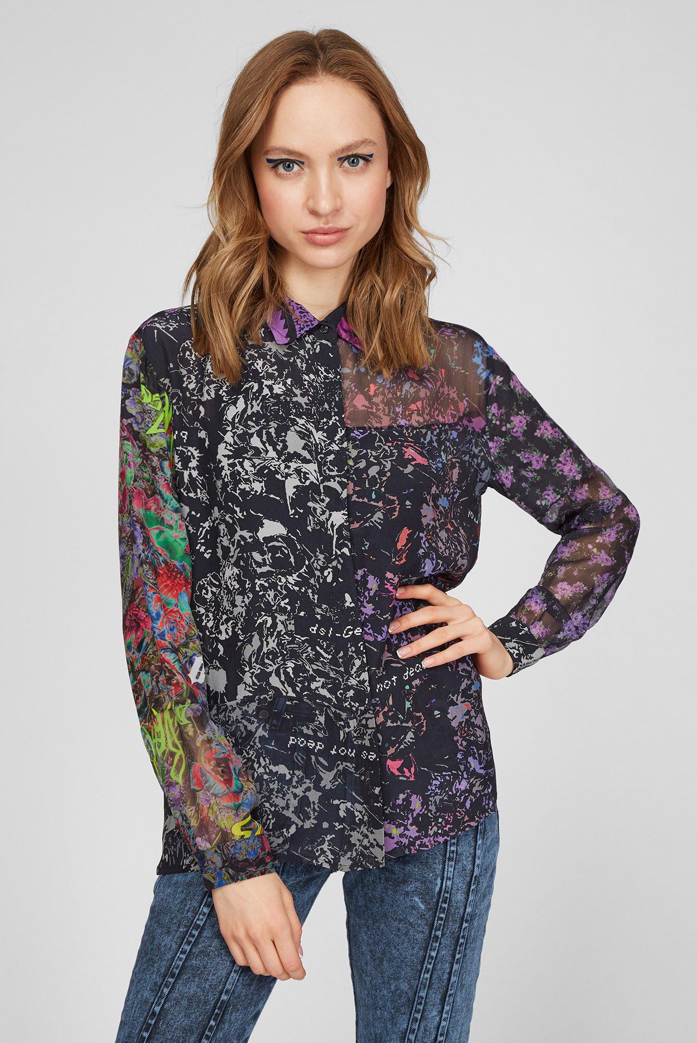 Женская блуза с принтом C-IZU 1