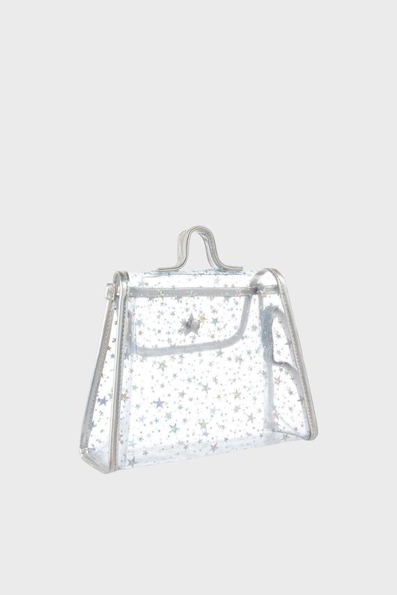 Детская серебристая сумка STAR JELLY ACROSS BO