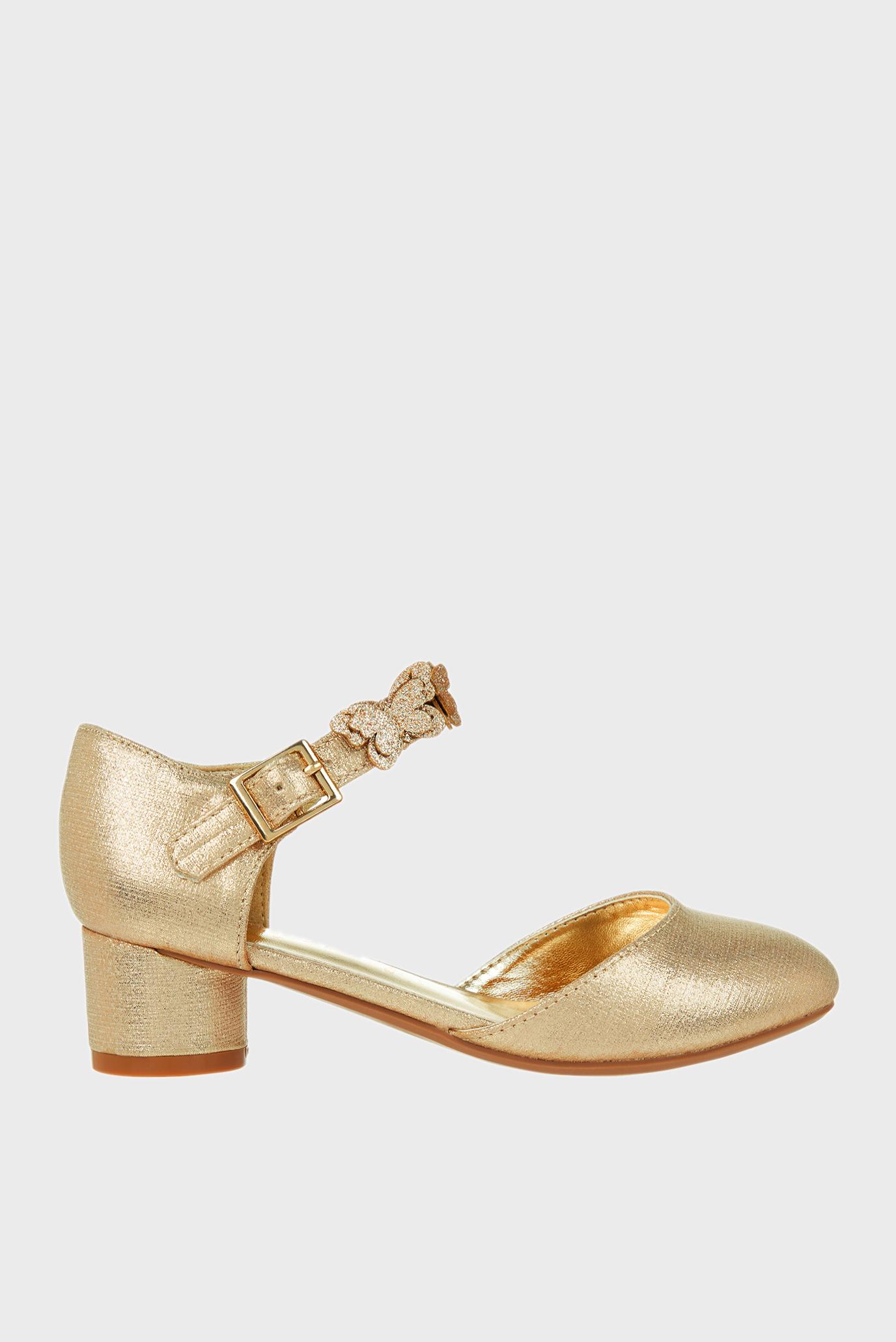 Детские золотистые туфли SAVANNAH SHOE 1