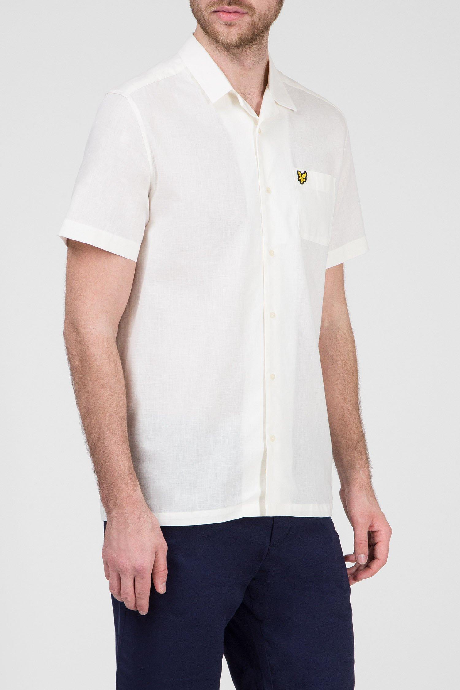 Купить Мужская светло-бежевая рубашка Lyle & Scott Lyle & Scott SW803V-Z455 – Киев, Украина. Цены в интернет магазине MD Fashion