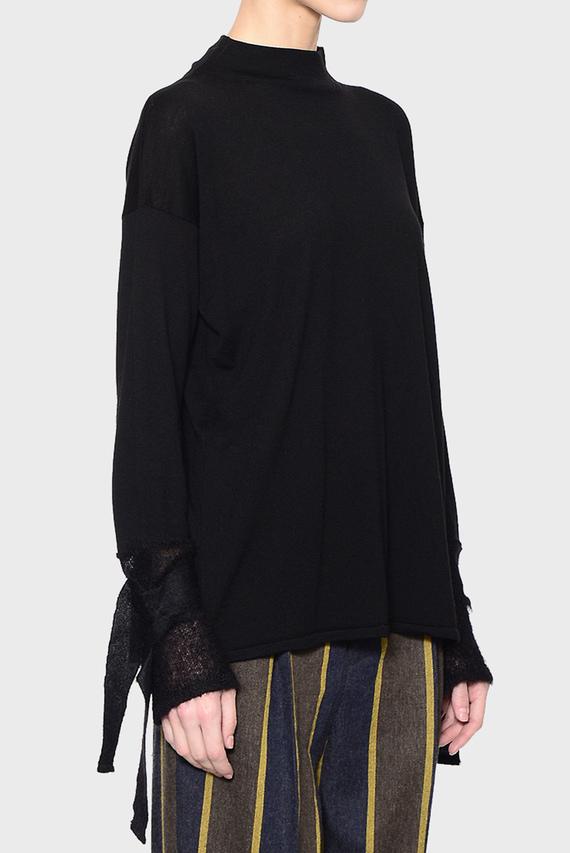 Женский черный свитер R-NECK PULLOVER PLAIN