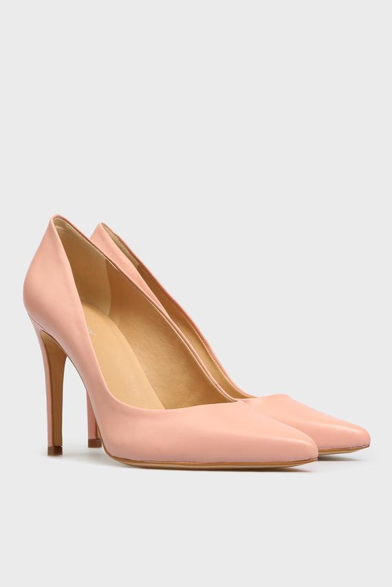 Женские розовые кожаные лодочки Gigi