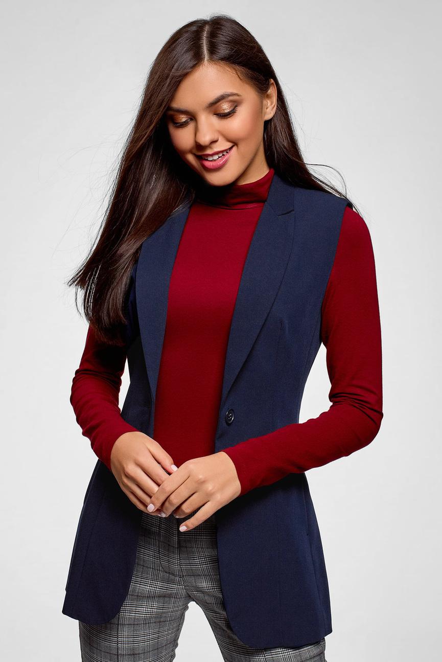 Женская синяя жилетка