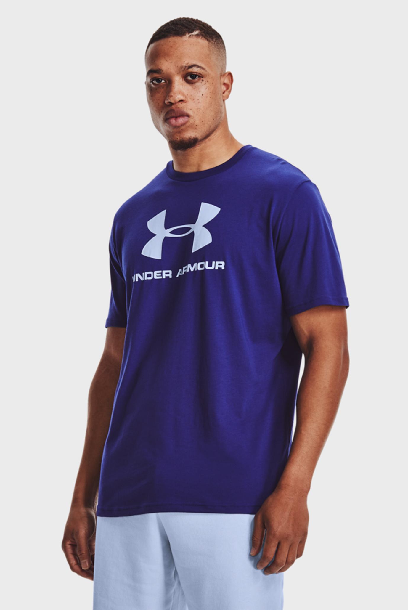 Мужская синяя футболка UA SPORTSTYLE LOGO SS 1