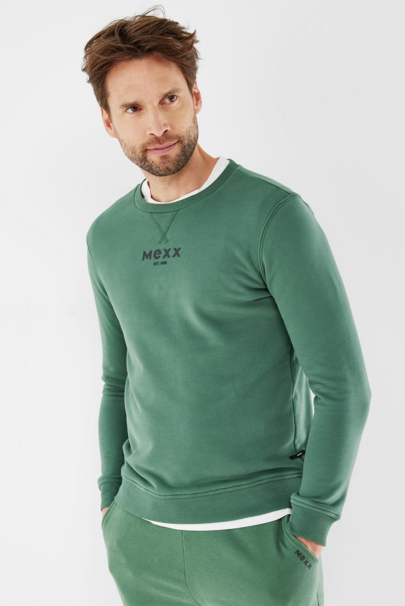 Мужской зеленый свитшот 1