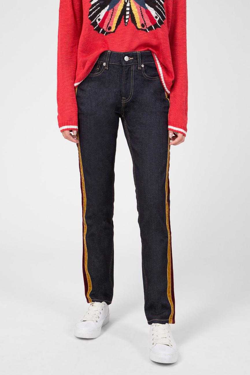 Женские темно-синие джинсы MABLE VELVET TAPE