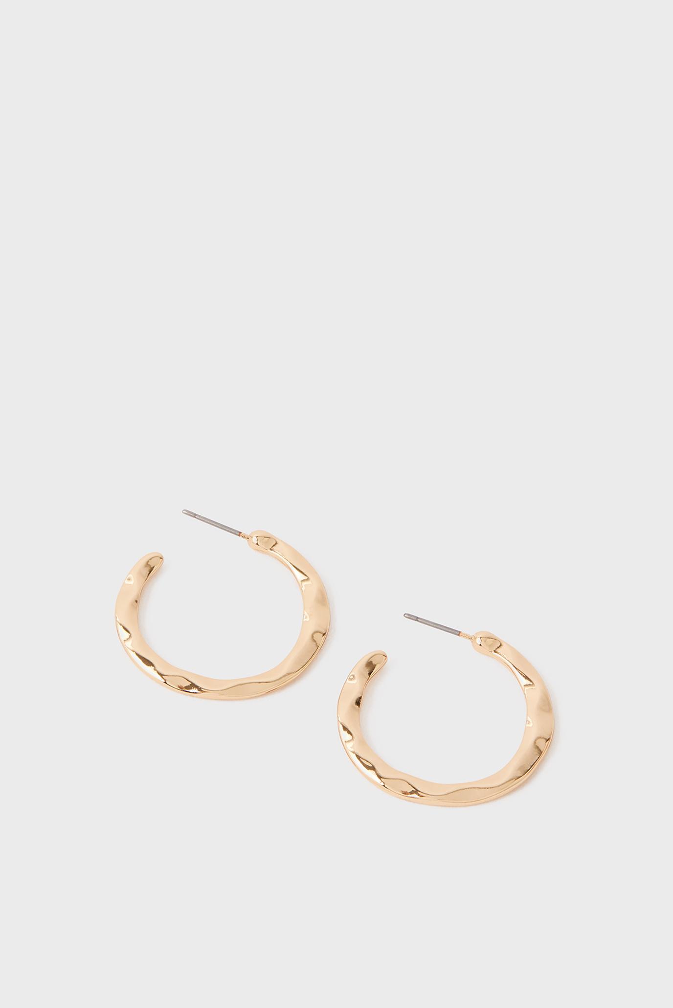 Жіночі золотисті сережки TEXTURED SMALL HOOP 1