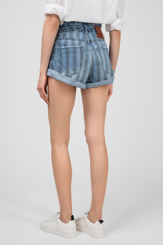Женские синие джинсовые шорты ZEPHYR