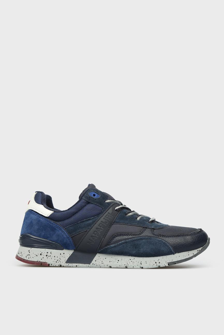 Мужские синие замшевые кроссовки