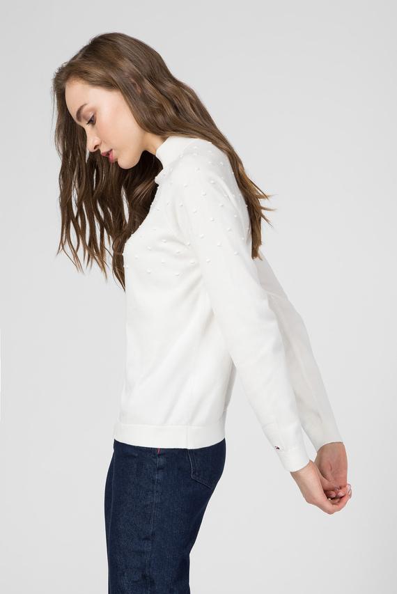 Женский белый свитер CAMBRY MOCK-NK