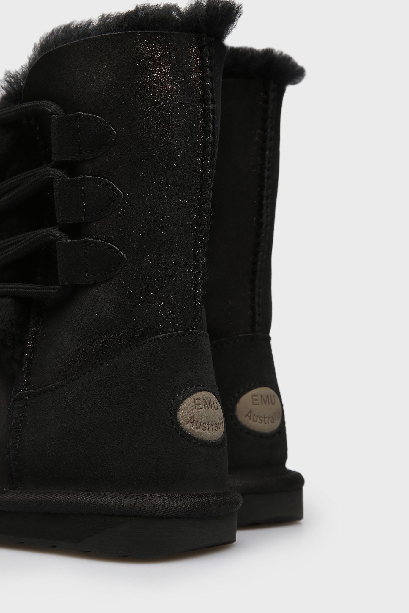 Купить Женские черные замшевые угги Sorby EMU Australia  EMU Australia  W11789 – Киев, Украина. Цены в интернет магазине MD Fashion