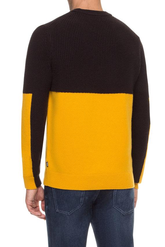 Мужской темно-коричневый шерстной свитер