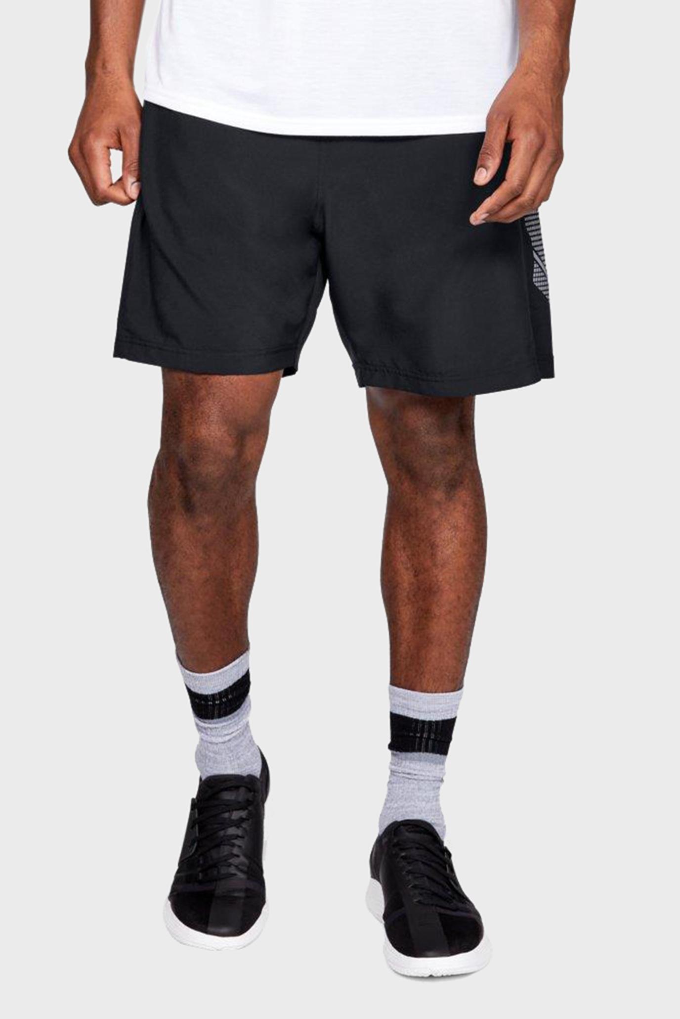 Мужские черные шорты Woven Graphic Short Under Armour
