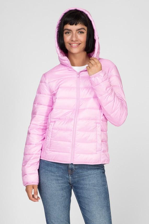 Женская розовая куртка TJW QUILTED ZIP THRU