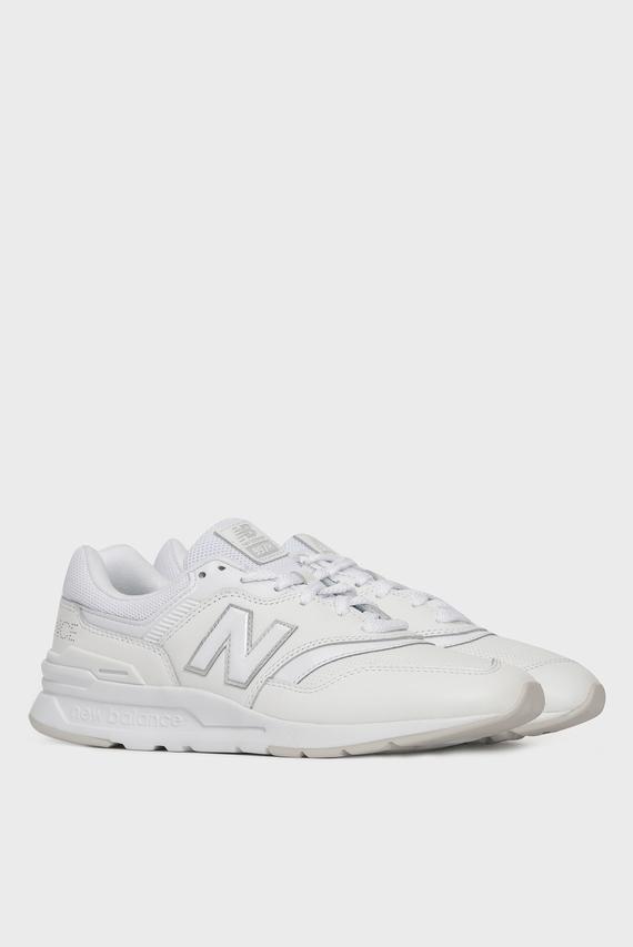 Женские белые кожаные кроссовки 997Н