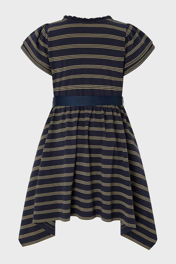 Детское синее платье Katia Stripe Dress