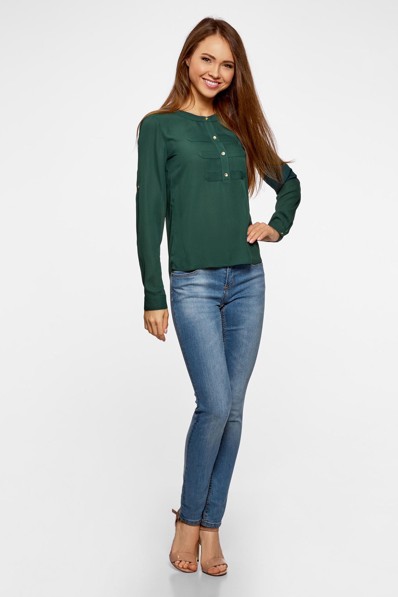 Женская зеленая блуза Oodji