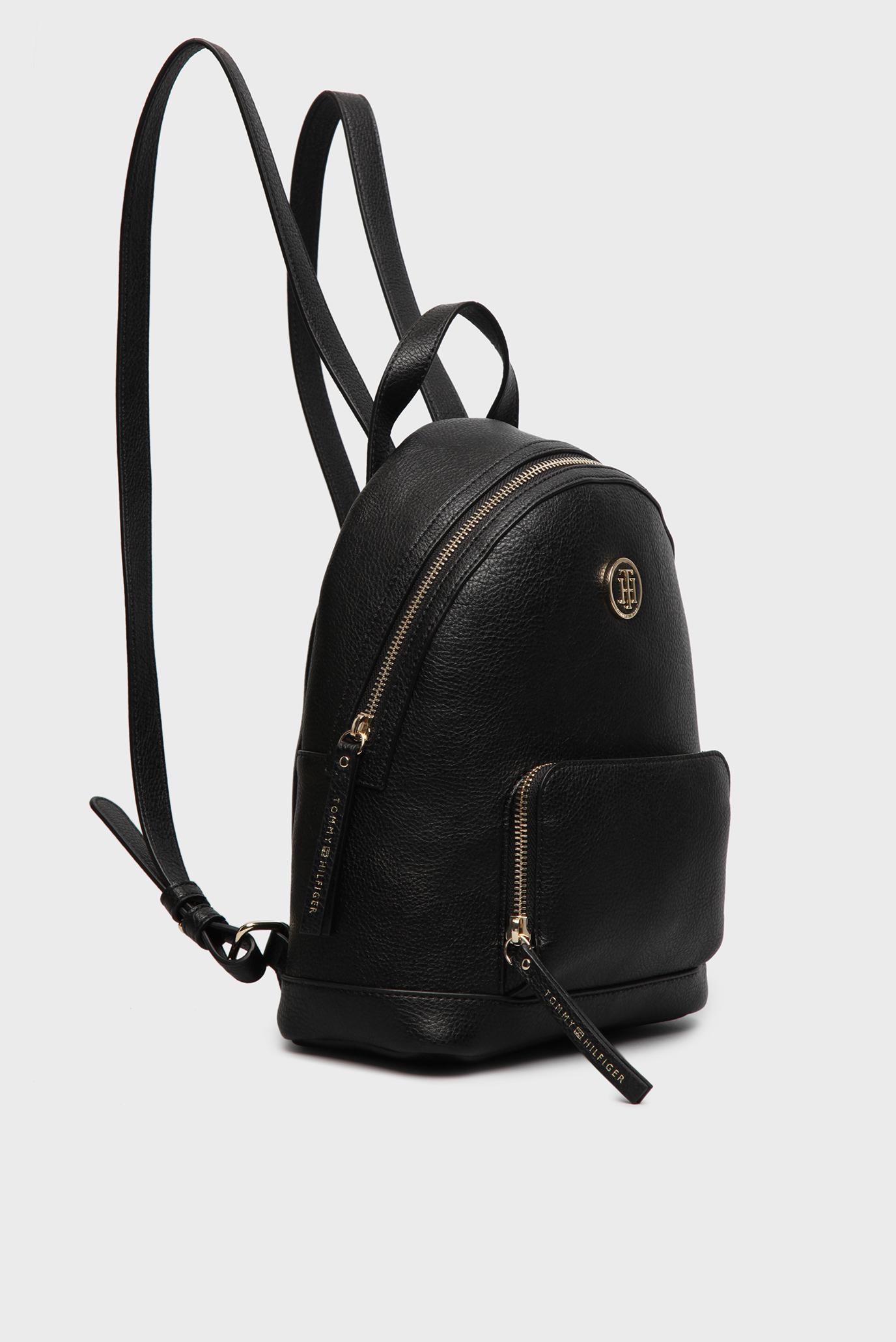 c312b9a421ec Купить Женский черный кожаный рюкзак Tommy Hilfiger Tommy Hilfiger  AW0AW03936 – Киев, Украина. Цены в интернет магазине ...
