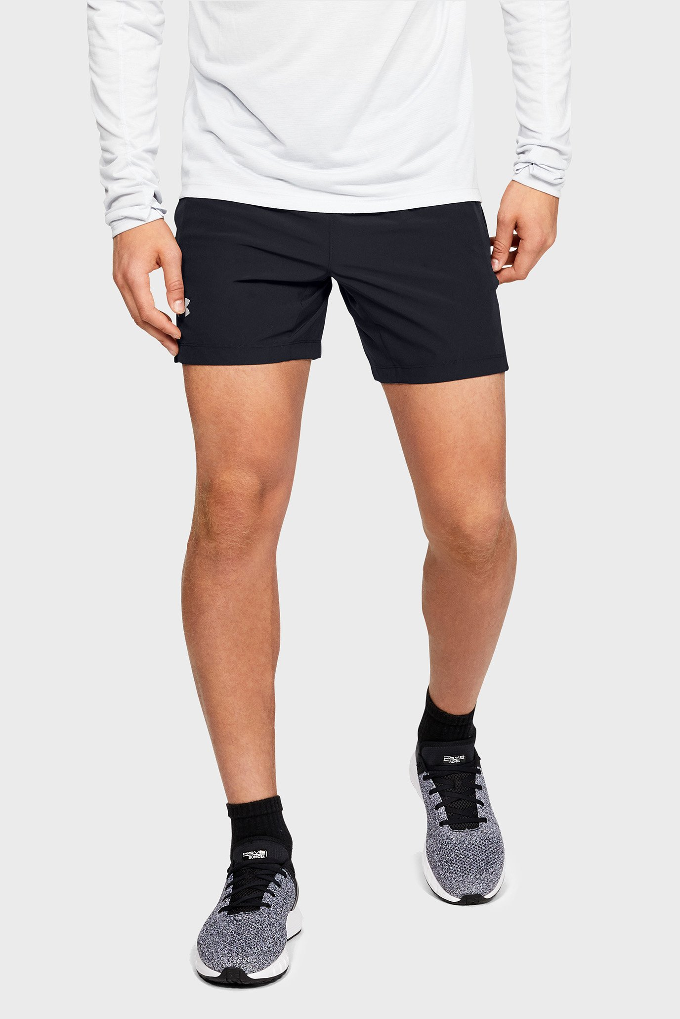 Мужские черные шорты UA SPEEDPOCKET LINERLESS 7'' SHORT Under Armour