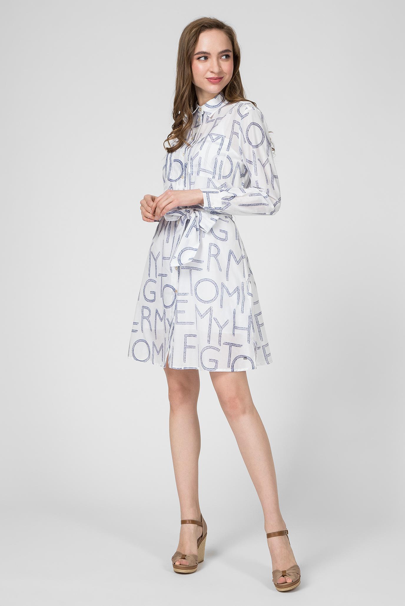 Женское белое платье-рубашка LEILA Tommy Hilfiger