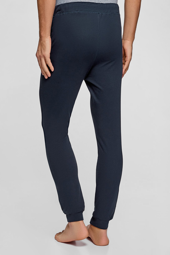 Мужские синие домашние брюки