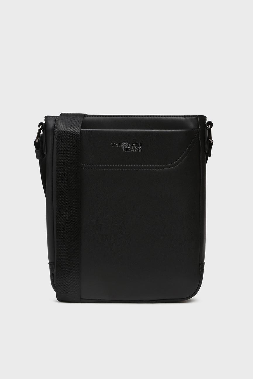 Мужская черная сумка через плечо BUSINESS CITY REPORTER