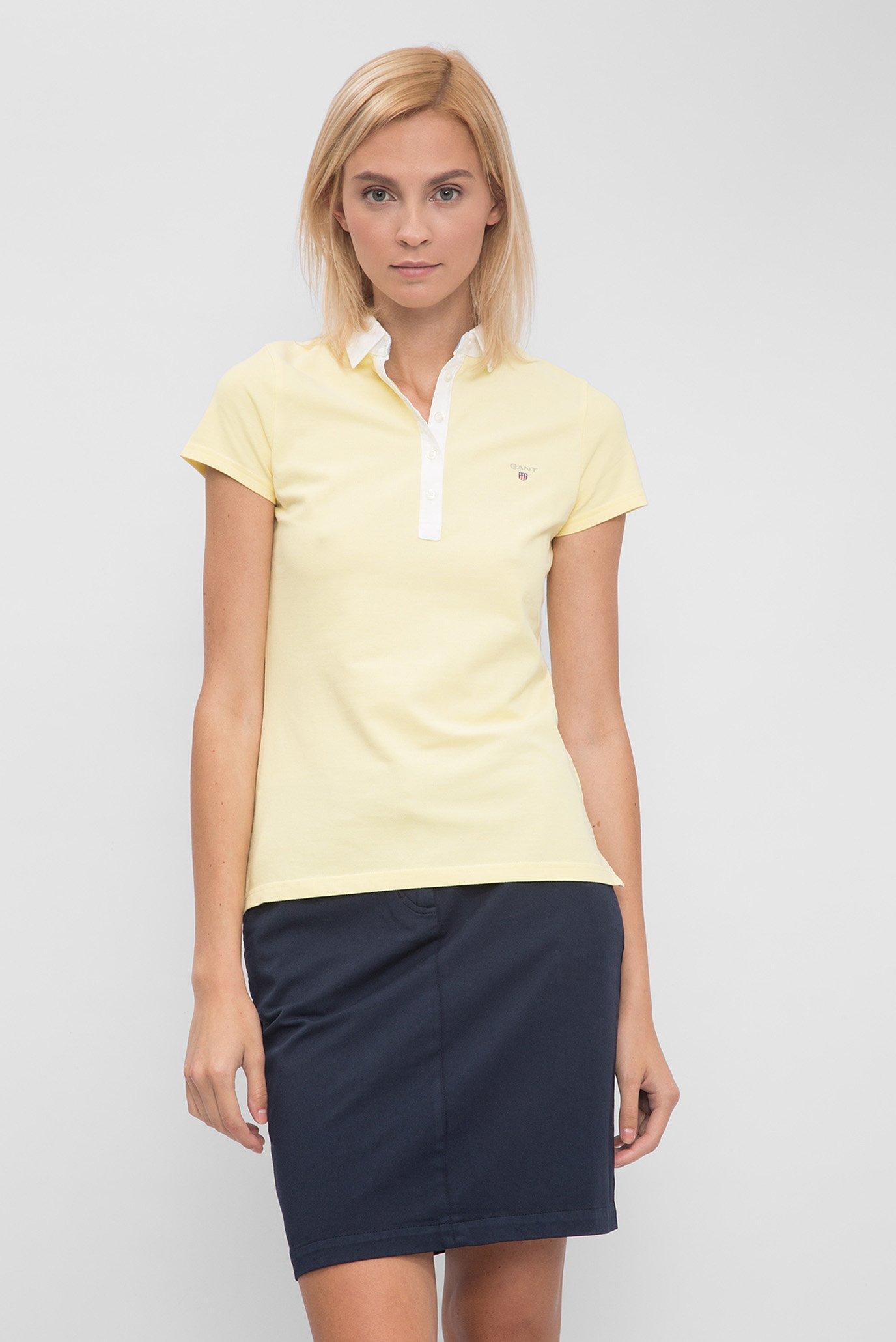 6c9461260a02c Купить Женское желтое поло Gant Gant 401208 – Киев, Украина. Цены в  интернет магазине MD Fashion