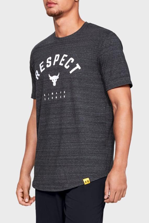 Мужская черная футболка PROJECT ROCK RESPECT TEE