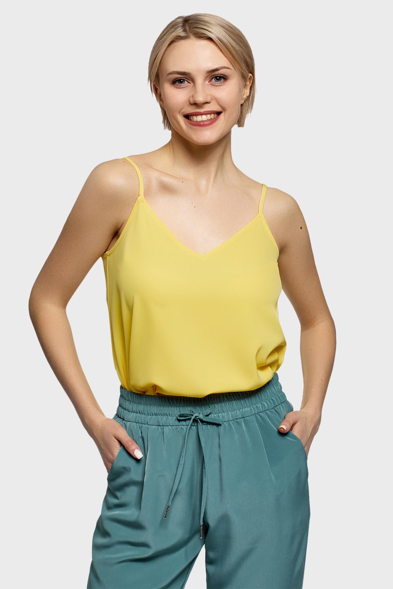 Жіночий жовтий топ 1