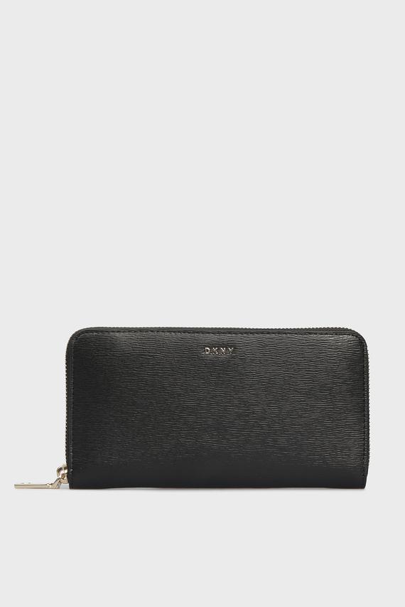 Женский черный кожаный кошелек BRYANT-NEW