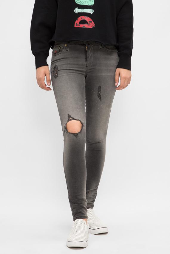 Женские серые джинсы SKINZEE