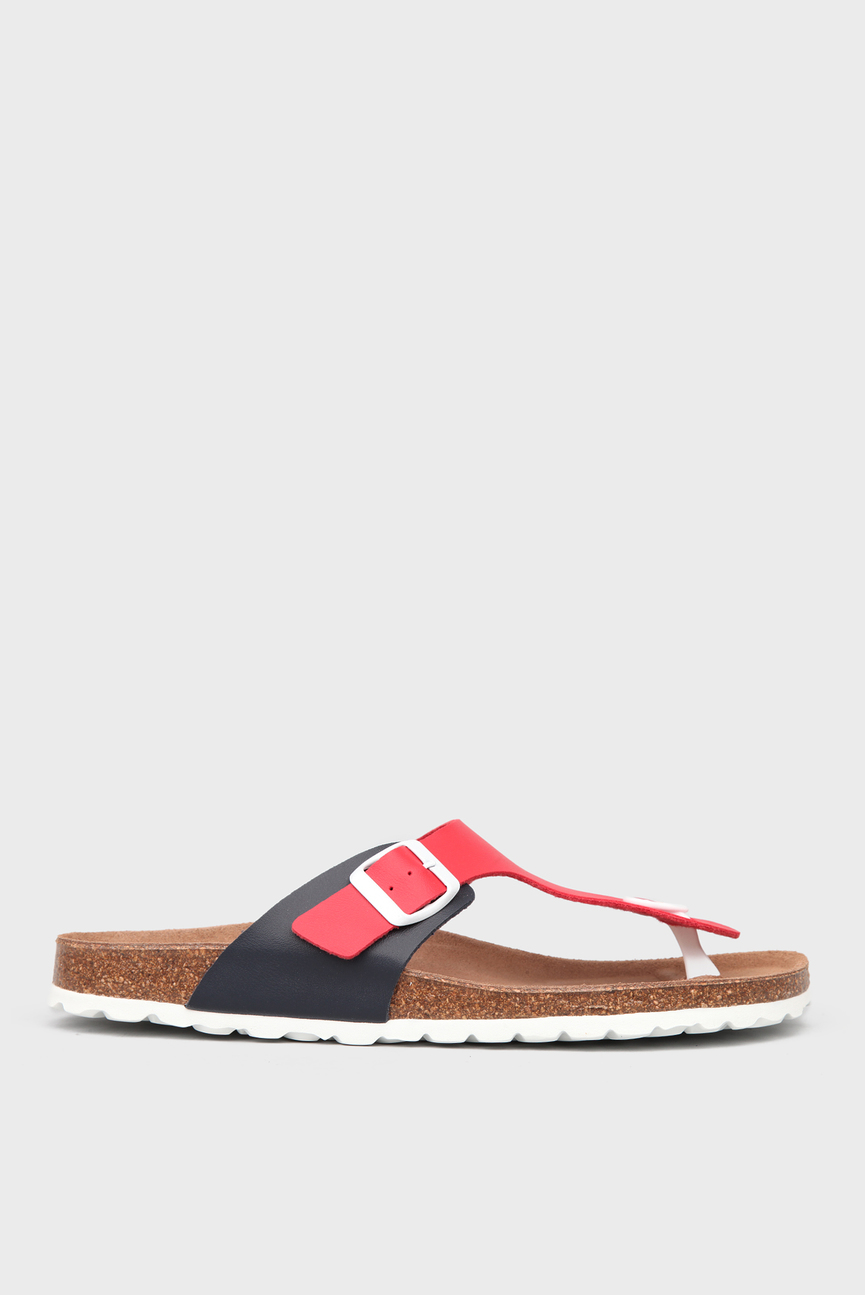 Мужские красные сандалии с пряжкой