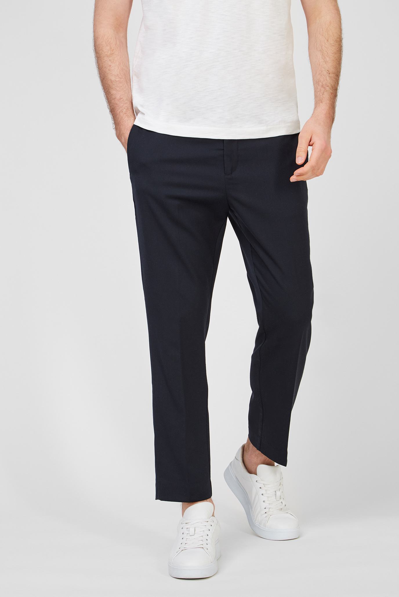 Мужские темно-синие брюки TWILL DRAWSTRING 1