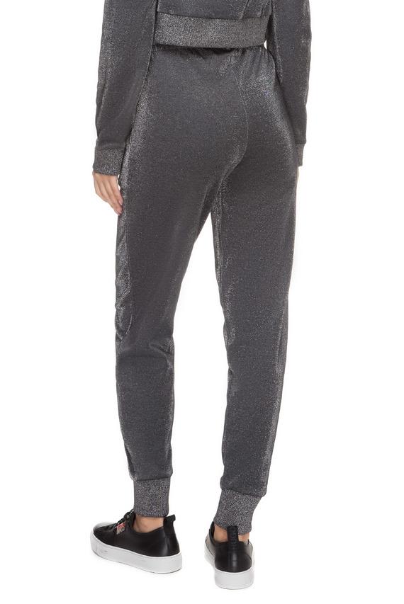 Женские серебристые спортивные брюки