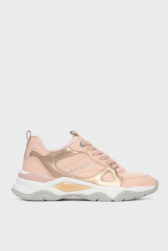 Женские пудровые кроссовки FLAUS