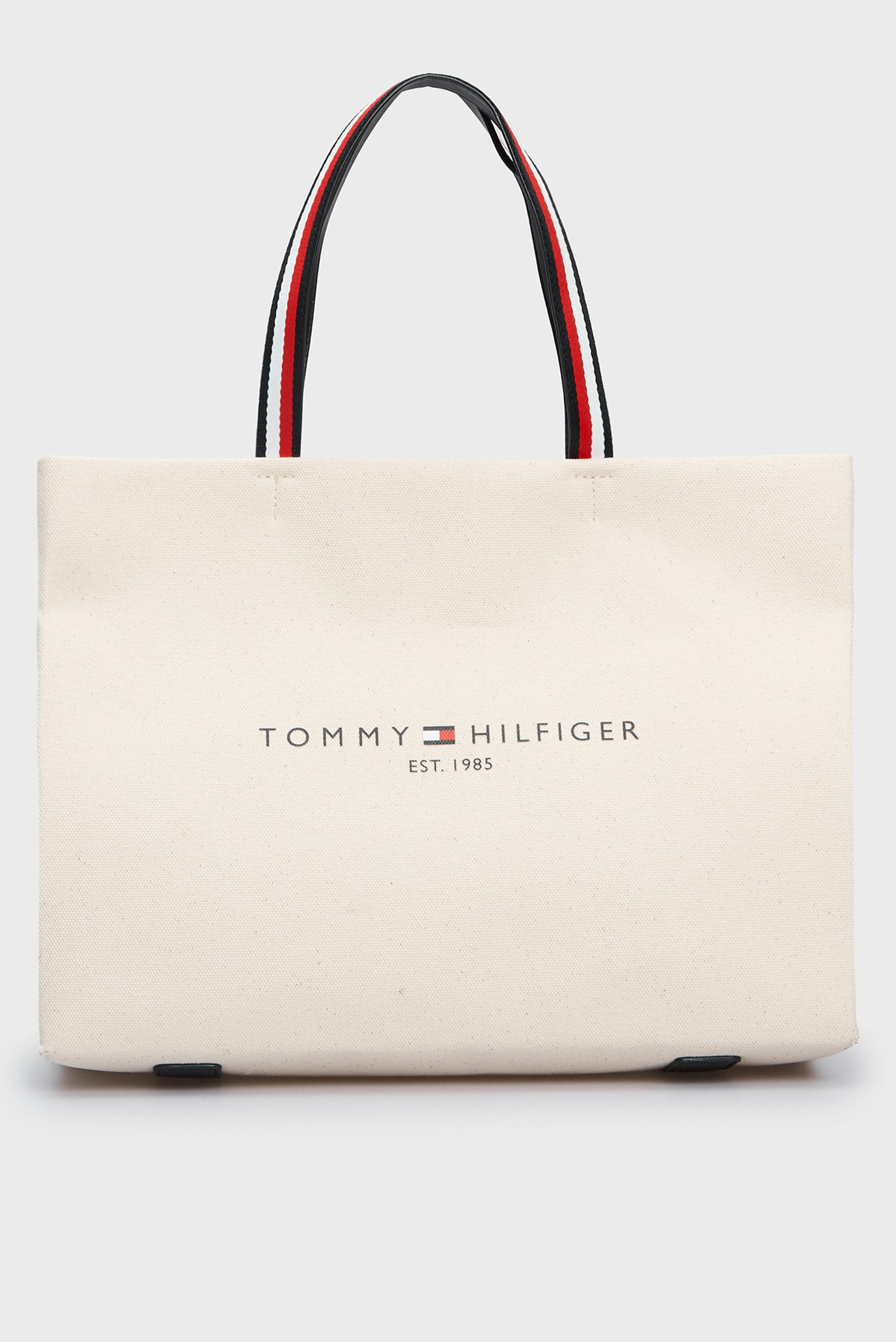 Женский бежевый шоппер TOMMY SHOPPER  CANVAS TOTE 1