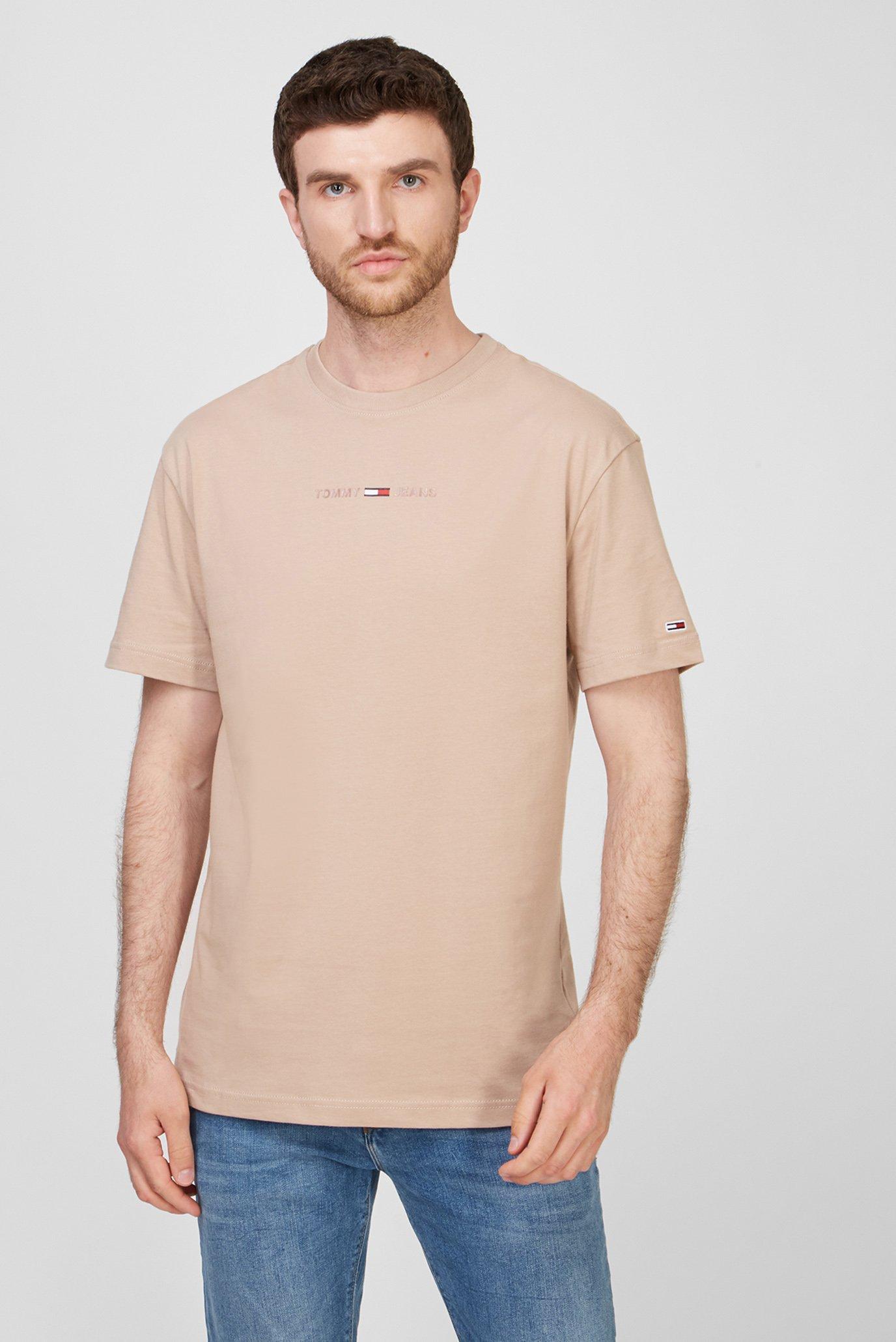 Мужская бежевая футболка TJM GEL LINEAR 1