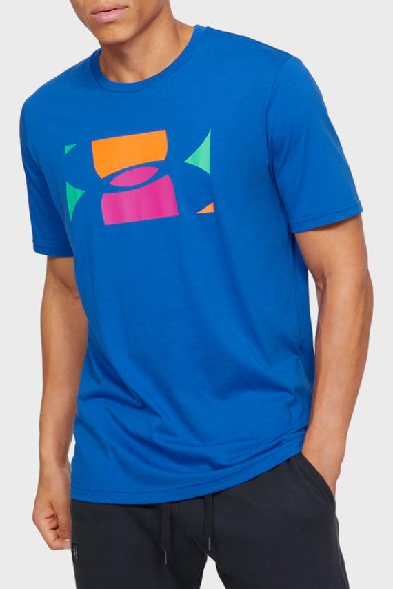 Мужская синяя футболка с принтом UA PASTEL CUT OFF SS-BLU
