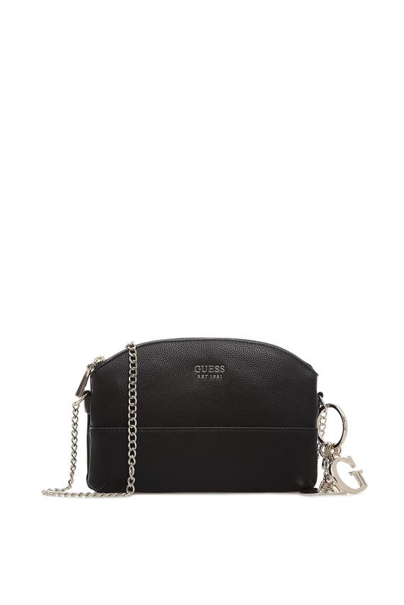 Женская черная сумка через плечо LILA MINI DOUBLE ZIP