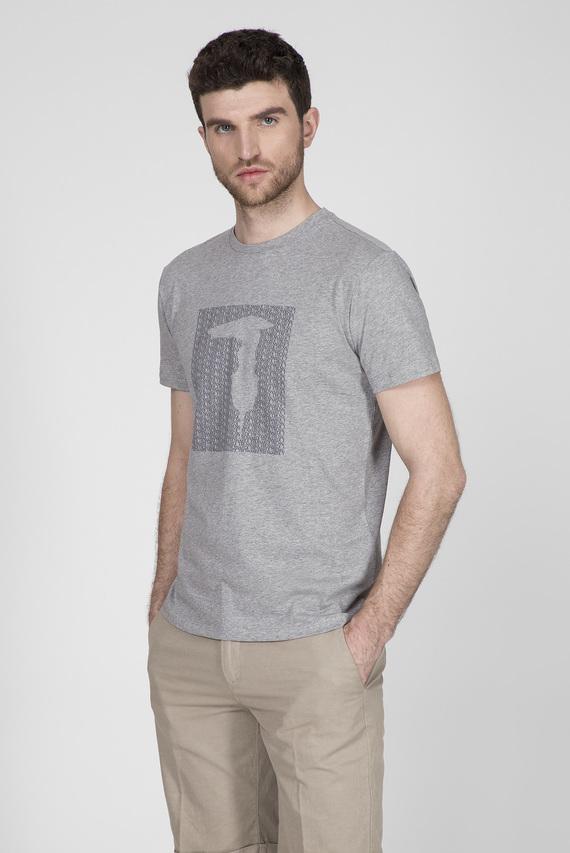 Мужская серая футболка REGULAR FIT