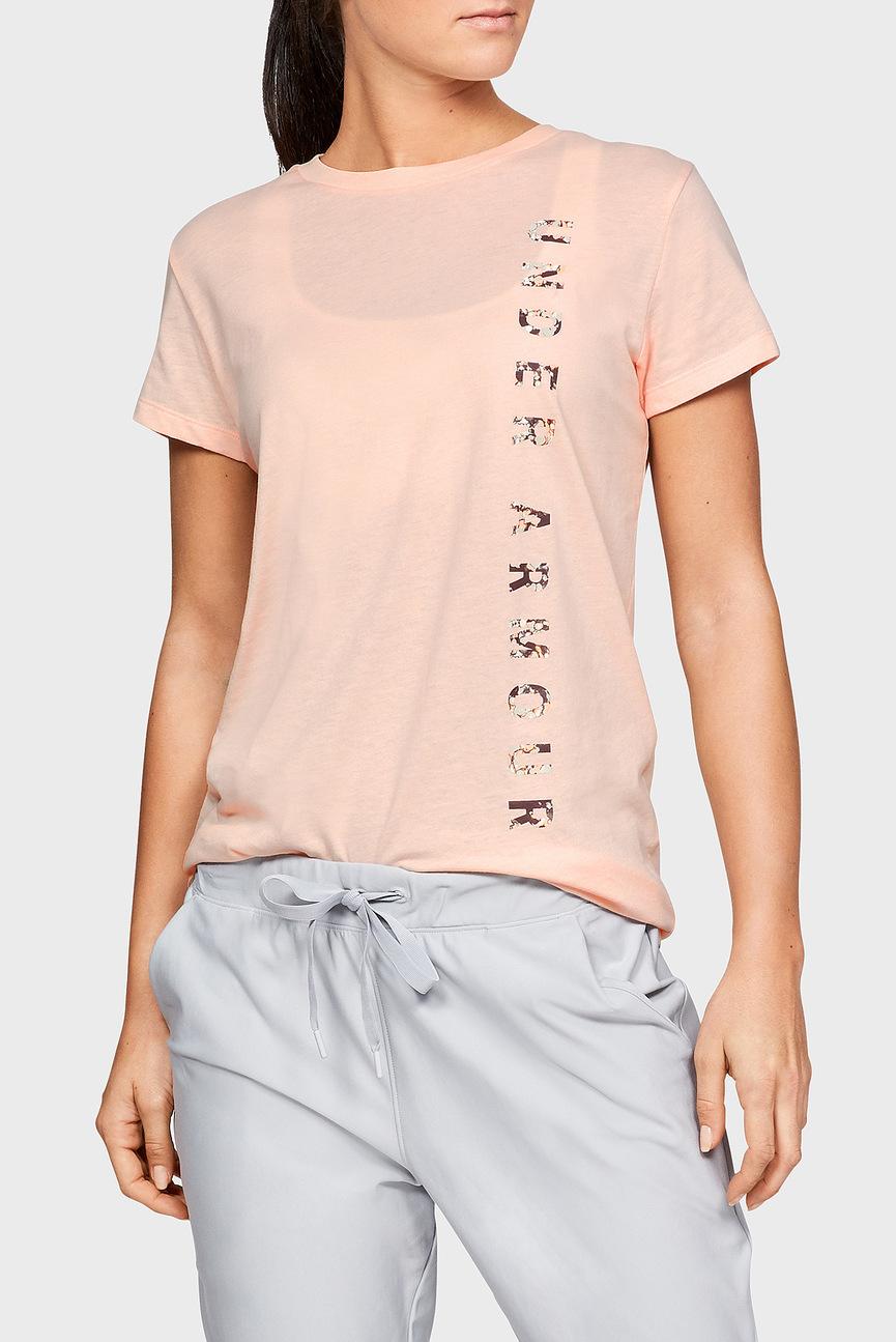 Женская персиковая футболка VERTICAL WM GRAPHIC CLASSIC