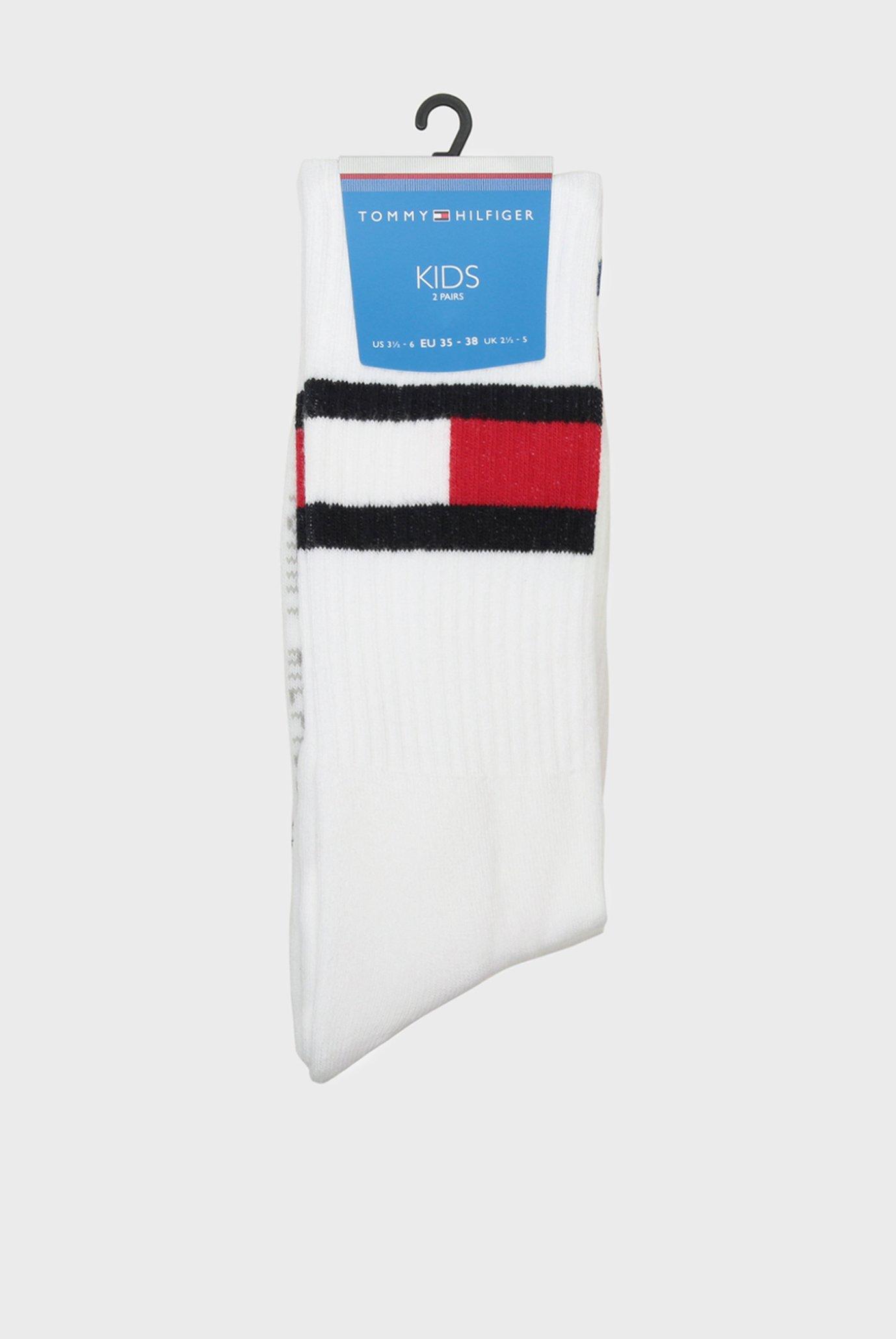 Дитячі білі шкарпетки (2 пари) Tommy Hilfiger