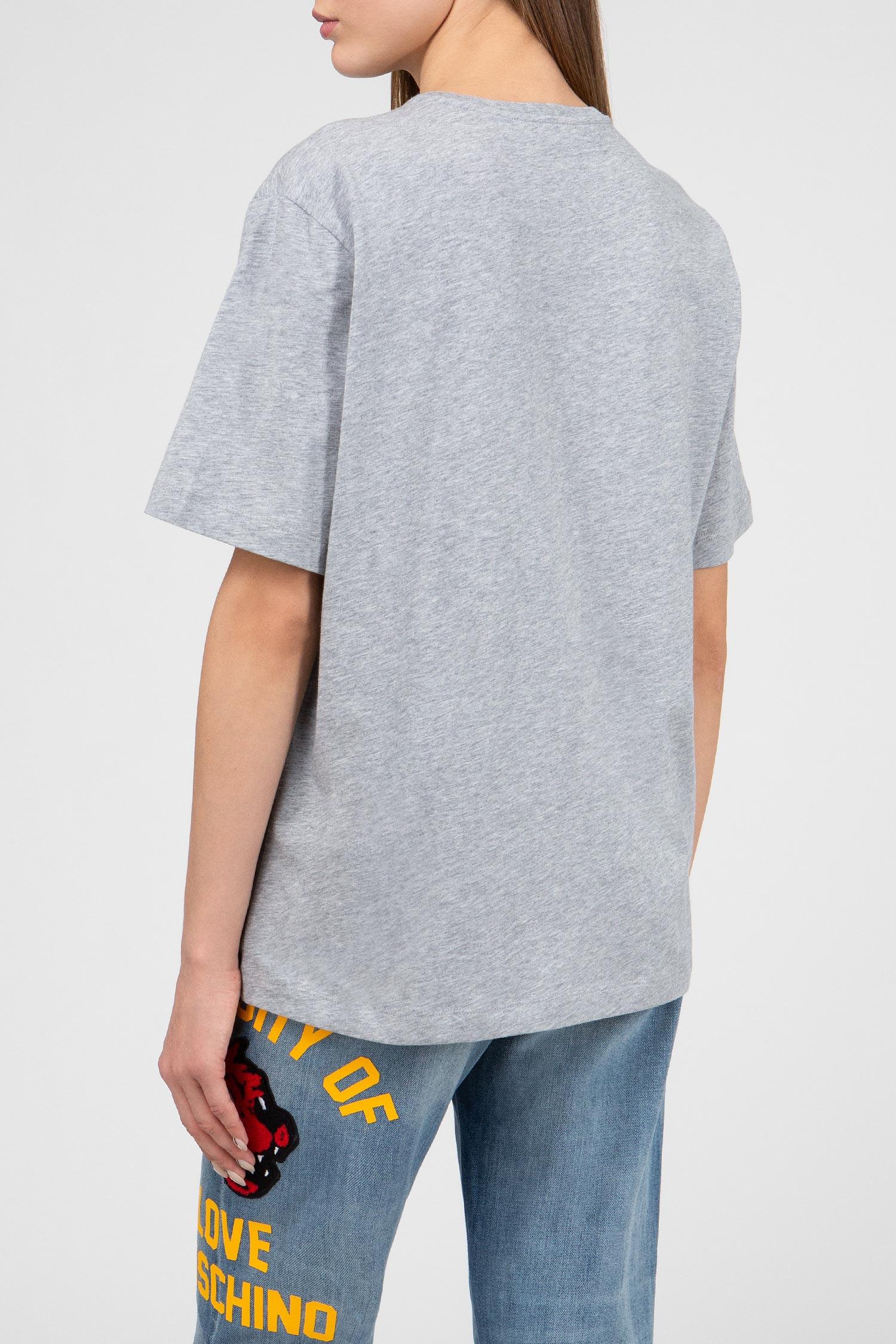 Купить Женская серая футболка Love Moschino Love Moschino W4F8716M3517A688 – Киев, Украина. Цены в интернет магазине MD Fashion