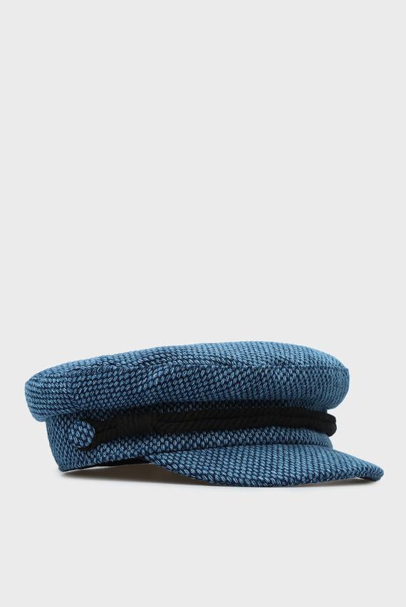 Женское синее кепи BAKER BOY TWEED