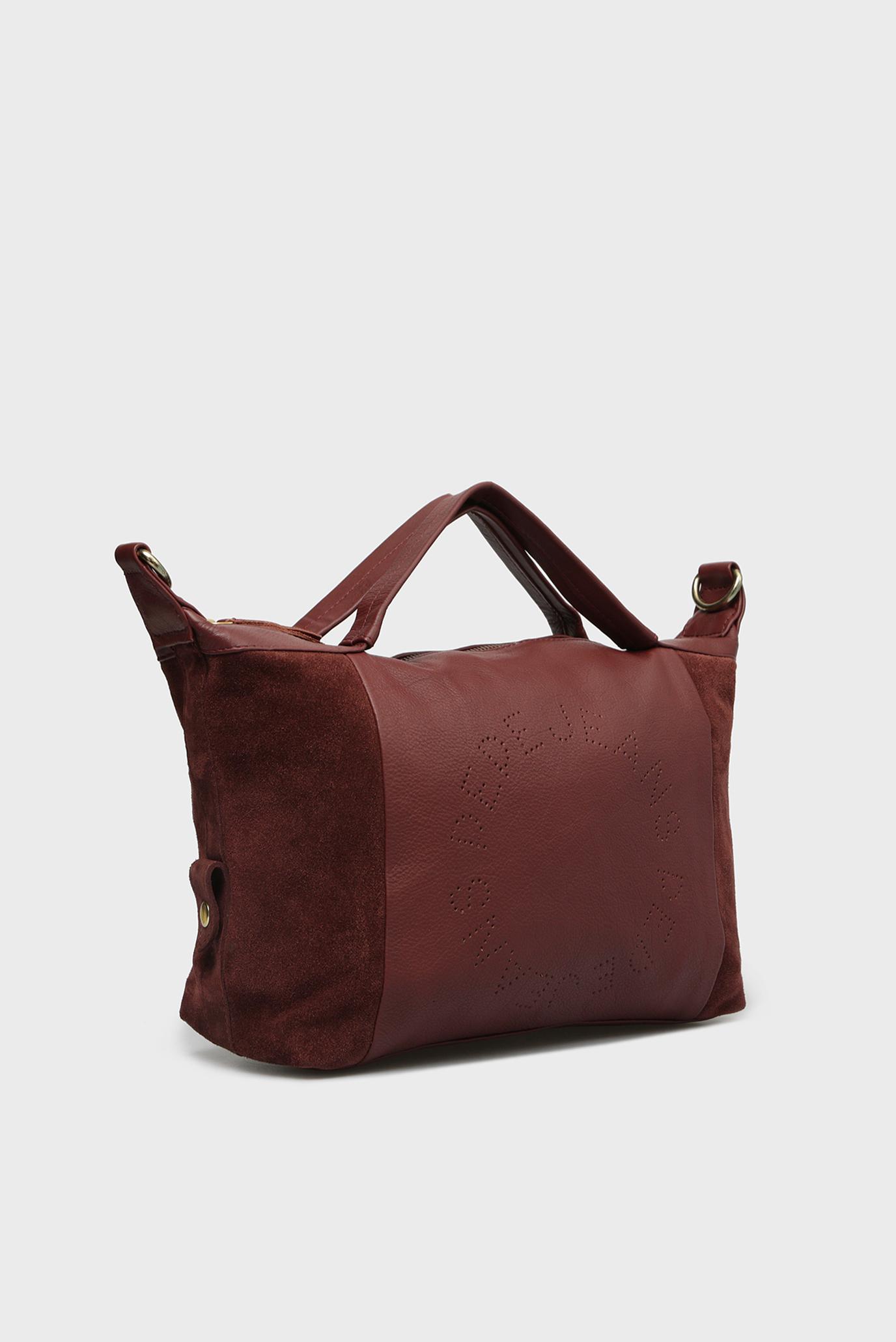 Купить Женская бордовая кожаная сумка на плечо LEAH Pepe Jeans Pepe Jeans PL030943 – Киев, Украина. Цены в интернет магазине MD Fashion