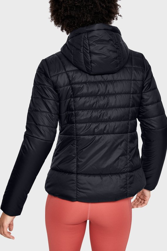 Женская черная куртка UA Armour Insulated Hooded