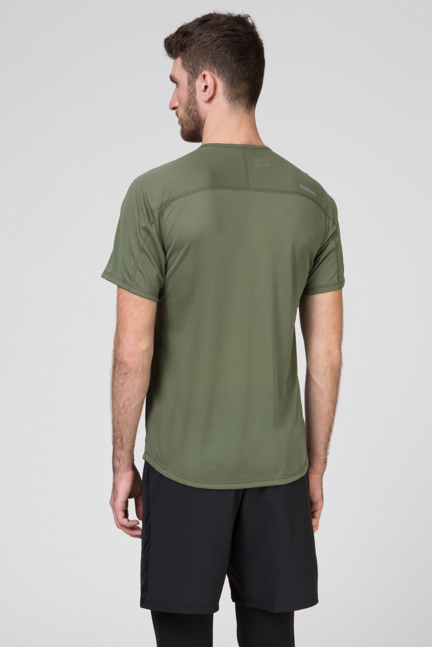 Мужская оливковая футболка HYDRALITE Saucony
