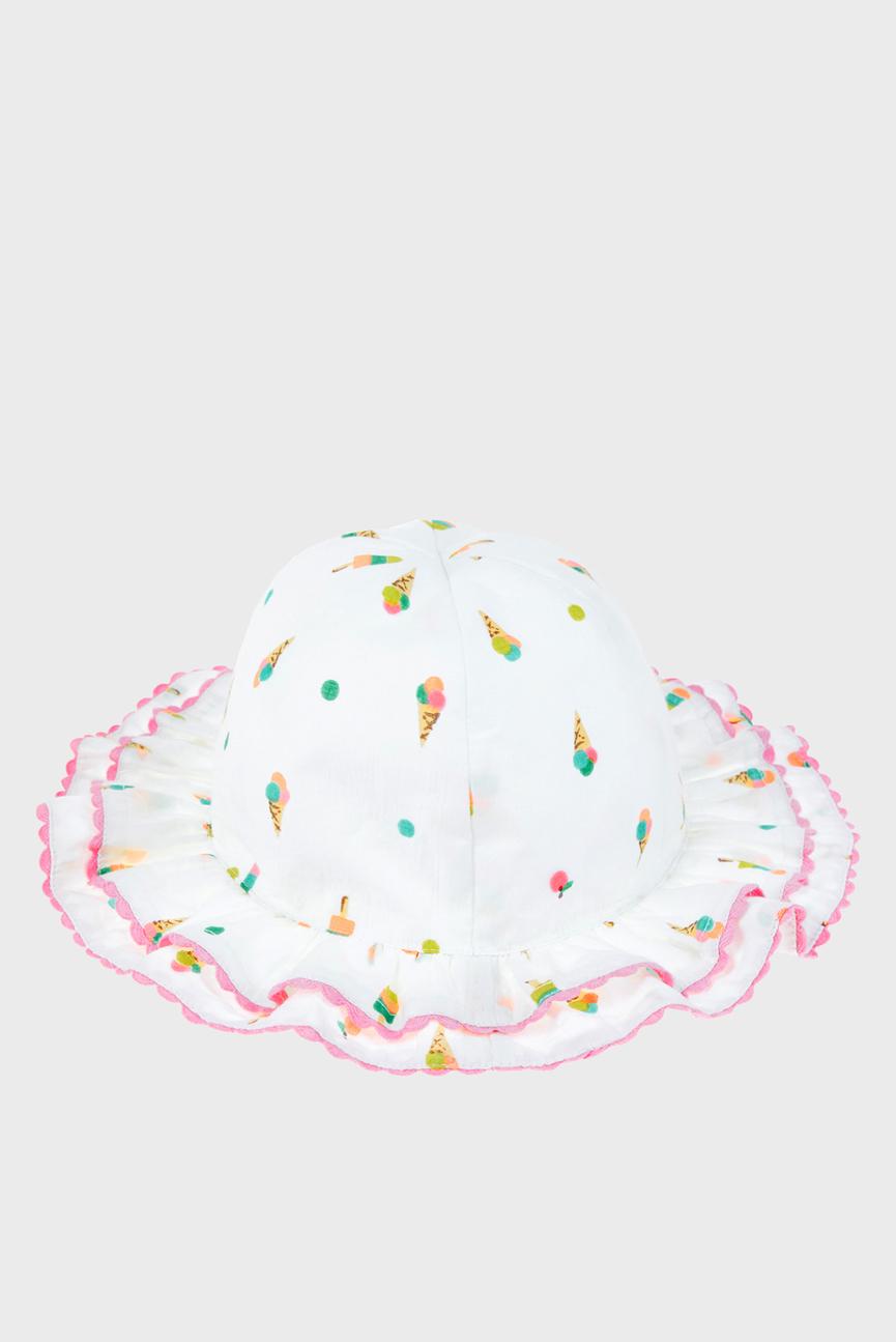 Детская белая шляпа DOUBLE FRILL ICE CRE