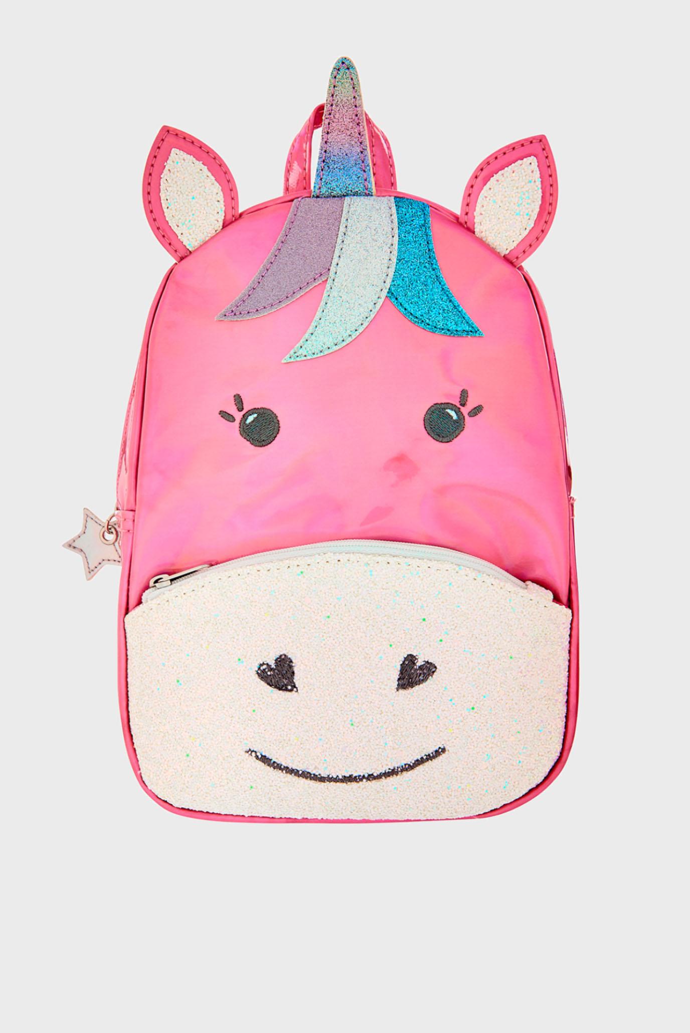 Детский малиновый рюкзак RAINBOW UNICORN BACK Accessorize